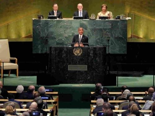 Б.Обама НҮБ-ын Ерөнхий Ассамблейд Ерөнхийлөгчийн хувиар сүүлчийн удаа үг хэллээ
