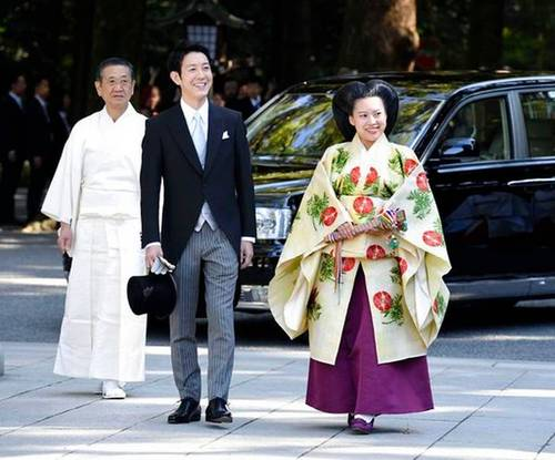 Японы гүнж Аяако хуримаа хийлээ