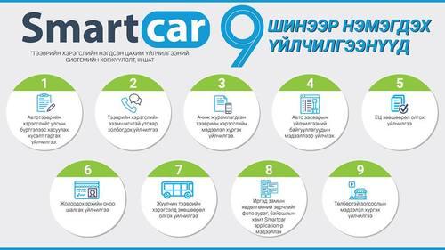 Smartcar системд 9 төрлийн үйлчилгээ шинээр нэвтрүүлнэ