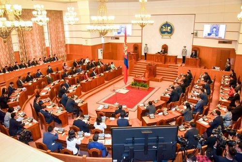 Монгол Улсын Засгийн газрын гишүүд Улсын Их Хуралд тангараг өргөв